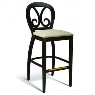 Beech Wood Bar Stool Harp Series