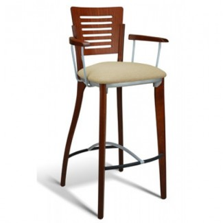 Beech Wood Bar Stool 1650 Series with Arms