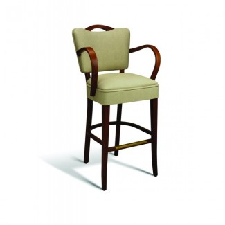 Beech Wood Bar Stool 440 Series with Arms and Handgrip