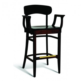 Beech Wood Bar Stool CC100 Series with Arms and Saddle Seat