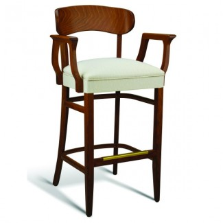 Beech Wood Bar Stool CC100 Series with Arms and Wrapped Sides