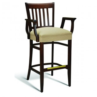Beech Wood Bar Stool CC110 Series with Arms and Wrapped Sides