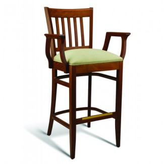 Beech Wood Bar Stool CC110 Series with Arms and Padded Seat