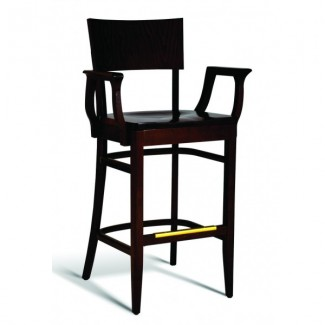 Beech Wood Bar Stool CC135 Series with Arms and Saddle Seat
