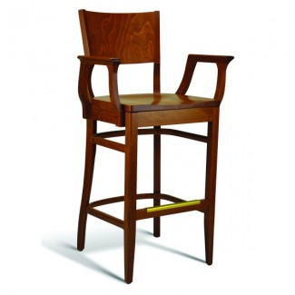 Beech Wood Bar Stool CC140 Series with Arms and Saddle Seat