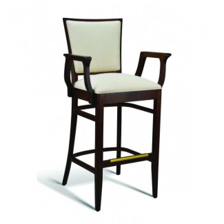 Beech Wood Bar Stool Quincy Series with Arms