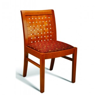 Beech Wood Side Chair 350 Series with Woven Padded Seat