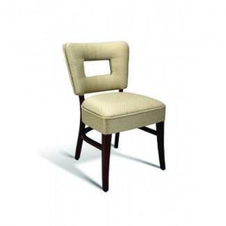 Beech Wood Side Chair 440 Series with Padded Cutout Back