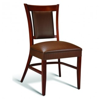 Beech Wood Stacking Side Chair CC111 Series with Padded Seat