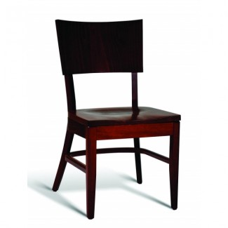 Beech Wood Stacking Side Chair CC135 Series with Saddle Seat