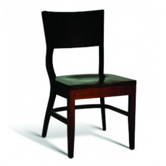 Beech Wood Stacking Side Chair CC140 Series with Saddle Seat