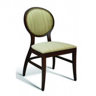 Beech Wood Side Chair Clark Series with Padded Nail Head Trim Back