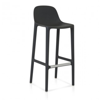 Eco Friendly Restaurant Breakroom Barstools Emeco Broom 30 Barstool - Dark Grey