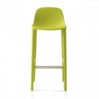 Eco Friendly Restaurant Breakroom Barstools Emeco Broom 30 Barstool - Green