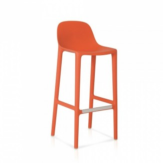 Eco Friendly Restaurant Breakroom Barstools Emeco Broom 30 Barstool - Orange