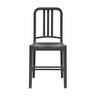 111 Navy Recycled Chair in Charcoal