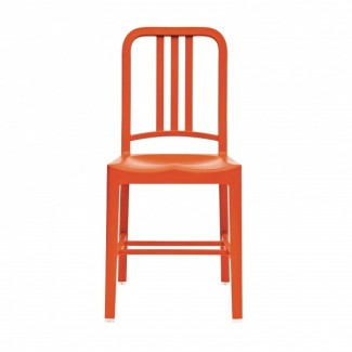 Eco Friendly Restaurant Breakroom Chairs 111 Navy Recycled Chair - Persimmon