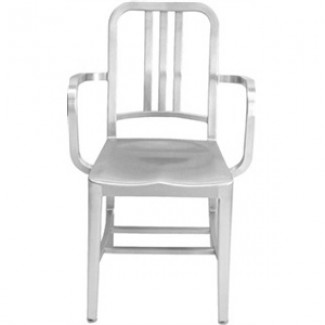 Navy Aluminum Arm Chair