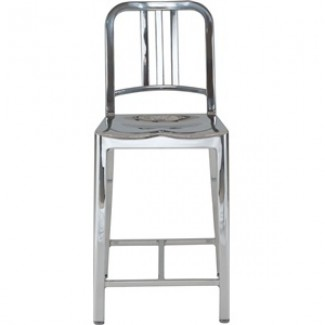 Navy Aluminum Counter Stool
