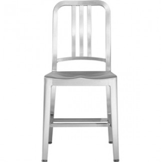 Navy Aluminum Side Chair