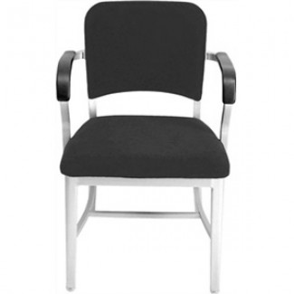 Navy Aluminum Upholstered Arm Chair