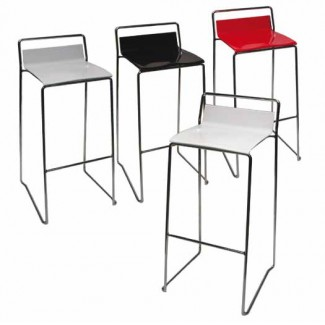 Elle Stacking Bar Stool - White DE30S-W