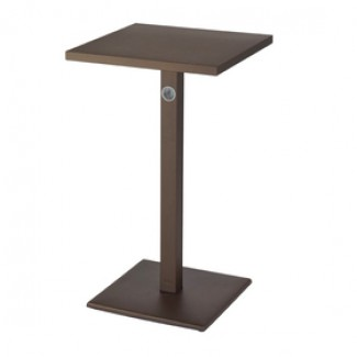Emu 24 Square Lock Solid Top Restaurant Commercial Hospitality Metal Italian Bar Height Table