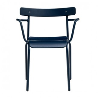 Emu Miky 638 Steel Italian Commercial Restaurant Hospitality Stacking Arm Chair