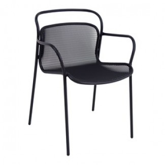Emu Modern 635 Steel Italian Commercial Restaurant Hospitality Stacking Arm Chair