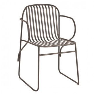 Emu Riviera 435 Steel Italian Commercial Restaurant Hospitality Stacking Arm Chair
