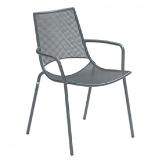 Emu Topper Steel Italian Commercial Restaurant Hospitaliy Outdoor Patio Stacking Arm Chair