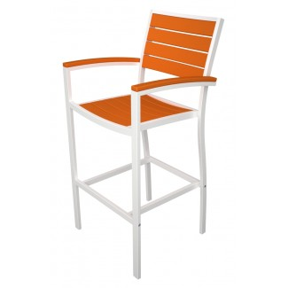 Euro Resin Bar Stool with Arms