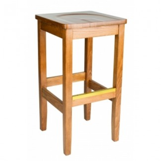 European Beech Solid Wood Restaurant Bar Stools Holsag Bulldog Backless Bar Stool