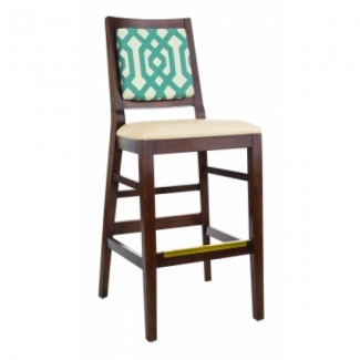 European Beech Solid Wood Restaurant Bar Stools Holsag Dallas Beechwood Barstool