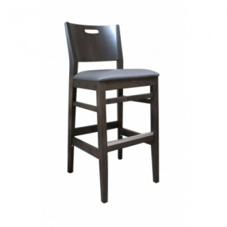 European Beech Solid Wood Restaurant Bar Stools Holsag York Barstool