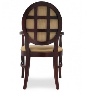 European Beech Solid Wood Restaurant Chairs Holsag Bristol Arm Chair with Lattice Back
