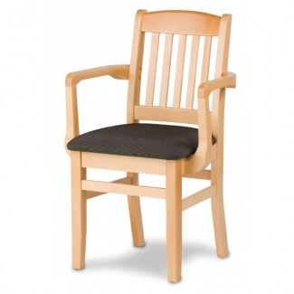 European Beech Solid Wood Restaurant Chairs Holsag Bulldog Arm Chair