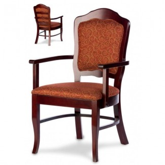 European Beech Solid Wood Restaurant Chairs Holsag Duke Ladder Back Arm Chair
