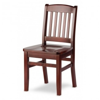European Beech Solid Wood Restaurant Side Chairs Holsag Bulldog Side Chair