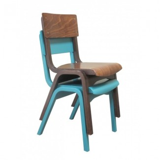 European Beech Solid Wood Restaurant Stackable Chairs Holsag Carlo Stacking Side Chair - Custom Finish