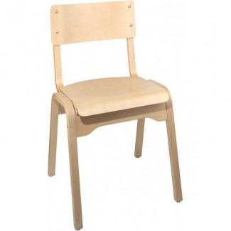 Holsag Carlo Stacking Side Chair - Natural Finish