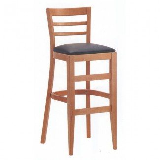 Beech Wood Bar Stool 1900P with Horizontal Slat Back