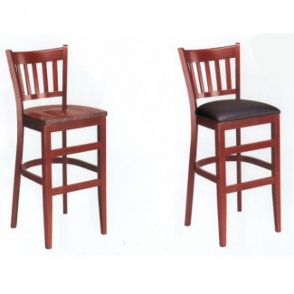 European Beech Solid Wood Upholstery Restaurant Bar Stools Beechwood Bar Stool 1970P