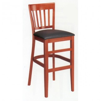 Beech Wood Bar Stool 1988P with Vertical Slat Back