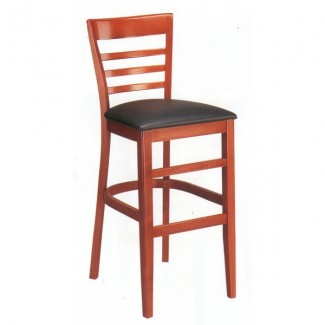 Beech Wood Bar Stool 2015P with Ladder Back