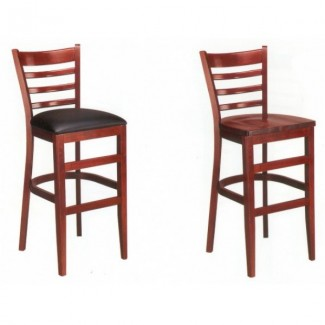 European Beech Solid Wood Upholstery Restaurant Bar Stools Beechwood Bar Stool 2020P