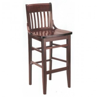 European Beech Solid Wood Upholstery Restaurant Bar Stools Beechwood Bar Stool 2200W