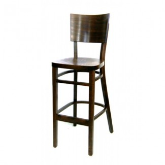 European Beech Solid Wood Upholstery Restaurant Bar Stools Beechwood Bar Stool 2202V