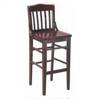 European Beech Solid Wood Upholstery Restaurant Bar Stools Beechwood Bar Stool 2250W
