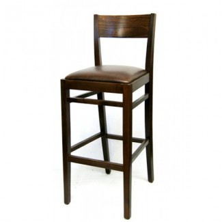 European Beech Solid Wood Upholstery Restaurant Bar Stools Beechwood Bar Stool 2365P